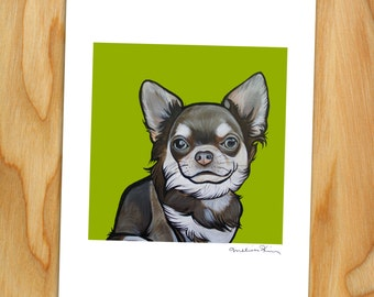 """8x10 Signed Print of """"Frankie"""" the Chihuahua"""
