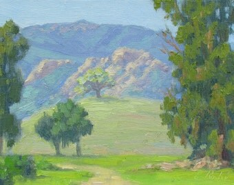 Landscape Painting, California Plein Air Painting, Spring at King Gillette Ranch