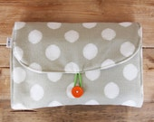 Diaper Changing Pad - Diapering on the Go - Polka Dots - Pick Grey or Orange
