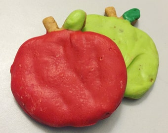 Red & Green Apples - Peanut Butter Apple Cookies for Dogs - All Natural - Dog Treat -  2 count package - Fall