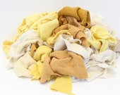 Recycled Cashmere Remnants - Yellow and Cream 16oz