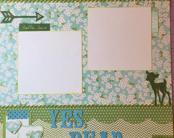 Yes Dear - 12x12 Premade 1 Page Scrapbook Layout
