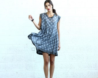 Halloween Sale Summer Sale Polka Dot dress, Gray