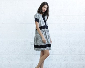Valentines day SALE!Eyelet Trim Print Dress