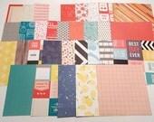 Scrapbook Paper Pack, 6x6 Scrapbook Paper, Destash Paper, Grab Bag Paper, Card Making, Paper Pack, Scrapbook Supplies, 30 Sheets