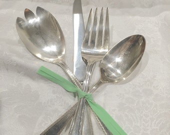 Lot of vintage silverplate serving pieces hostess gift