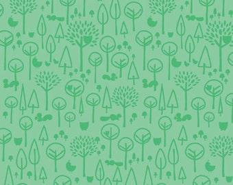 Scenic Route Trees in Green, Deena Rutter, Riley Blake Designs, 100% Cotton Fabric, C3663-GREEN