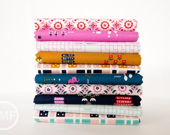 Lucky Strikes Fat Quarter Bundle, 10 Pieces, Kim Kight, Cotton+Steel, RJR Fabrics, 100% Cotton Fabric
