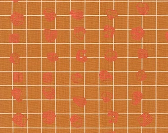 Carkai Grid Bits in Gold, Carolyn Friedlander, Robert Kaufman Fabrics, 100% Cotton Fabric, AFR-15795-133 GOLD