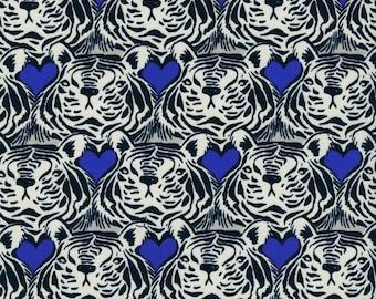 Bluebird Tiger Heart, Sarah Watts, Cotton+Steel, RJR Fabrics, 100% Cotton Fabric, 5038-1