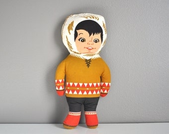 Vintage Eskimo Plush Toy