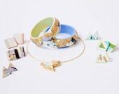 Geometric wood bracelet
