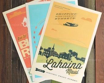 Leeward Maui - Series - 12 x 18 Retro Hawaii Prints