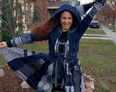Nordic Dream, up-cycled Sweater Coat, Katwise Inspired, Cozy Rose Creations, Elf Coat, Pixie Coat