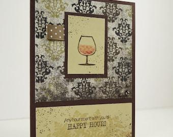 Friend Birthday Card - Drink Card - Unique Birthday Cards - Happy BIrthday Cocktail - Birthday Card For Him - Blank Greeting Card