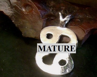 Mature 69 Pendant  Solid Sterling Silver Free Domestic Shipping