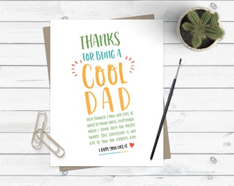 Funny Father's Day Card / Heartfelt Father's Day Card / For Dad / Stepdad Stepfather Card / Dad Joke Dad Bod Card / Funny Dad Card