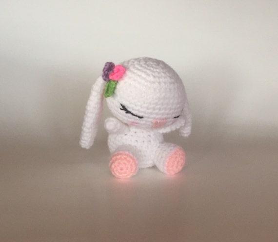 Amigurumi Sleeping Bunny : Sleepy Bunny Made to Order Crocheted Doll Amigurumi by meddywv