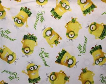 Minion Au Natural Grass Skirts White Cotton Fabric Fat Quarter or Custom Listing
