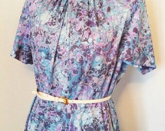 Purple Marbled Mod Dress