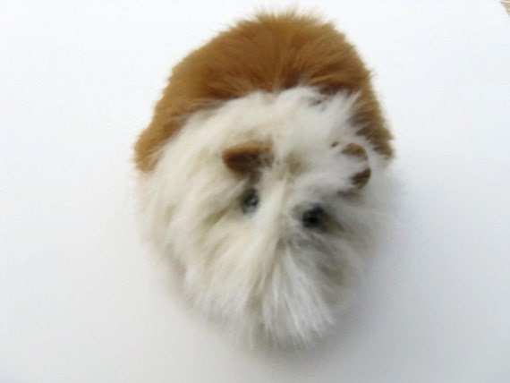 Guinea Pig Plush Honey and White