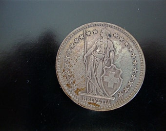 Swiss Coin, Silver 2 Franc, 1937, Silver Coin