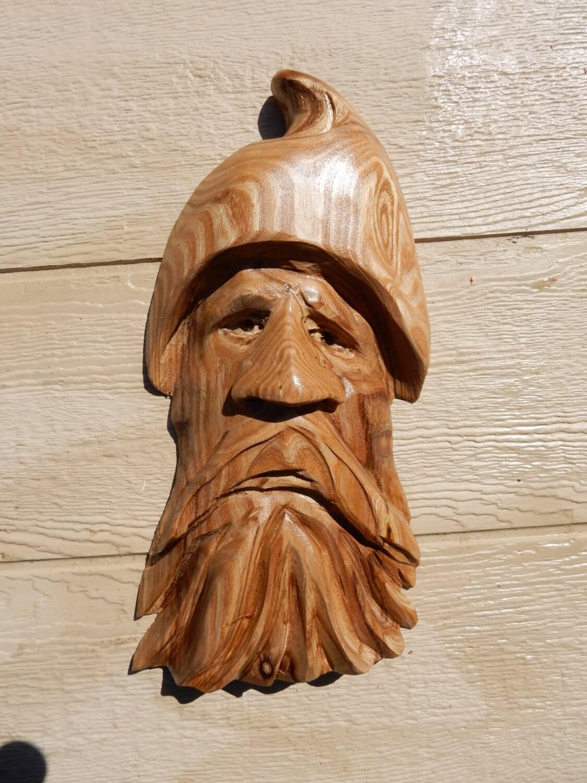 Chainsaw carving wood spirit sculpture art zeppy