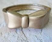 Bow Bracelet Cuff Bracelet Bangle Bracelet Vintage Cuff Bracelet Rose Gold Bracelet Dainty Bow Bangle Wrist Cuff Gold Bangle