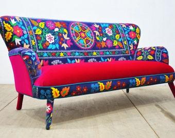 Suzani 3-seater sofa - deep blue