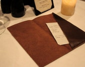 Leather Check Presenter - Rustic Brown