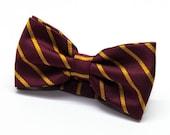 Burgudy Yellow stripes bow tie-Faboulous bow tie-Men's bow tie Fashion bow tie Clubbing bowtie Cocktail tie