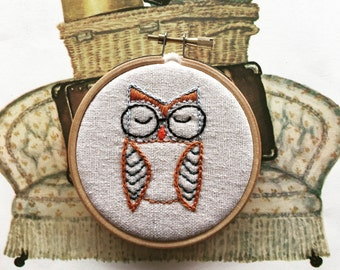 embroidery kit // The Hello Hooties - Eli Hootie embroidery kit