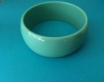 Sea Green Turqoise Big Vintage Bangle Bracelet