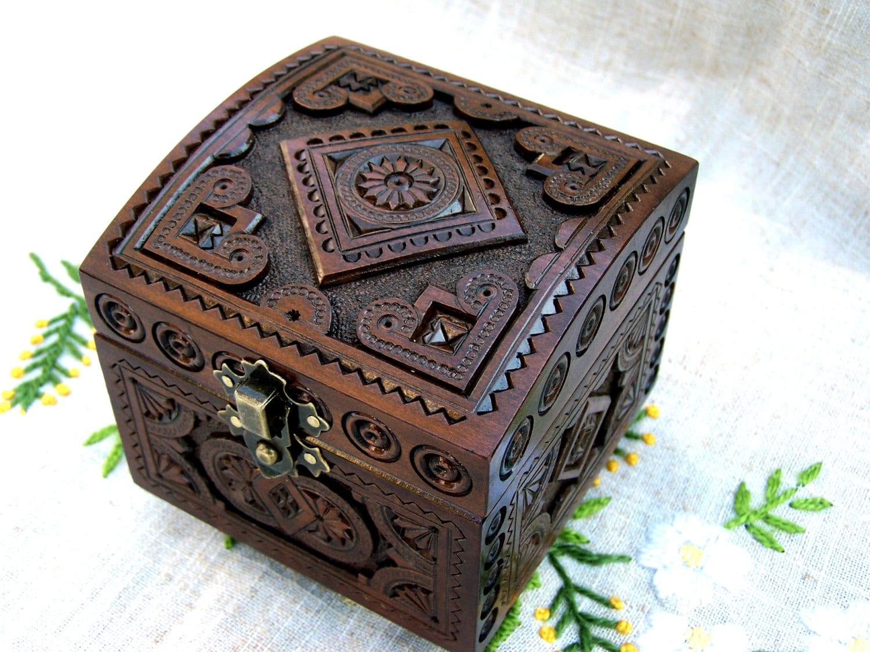 jewelry box wooden box ring box jewellery box by happyflying