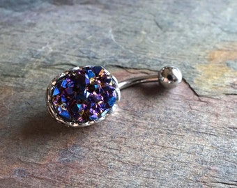 Druzy Jewelry Belly Button Rings Belly Button Jewelry