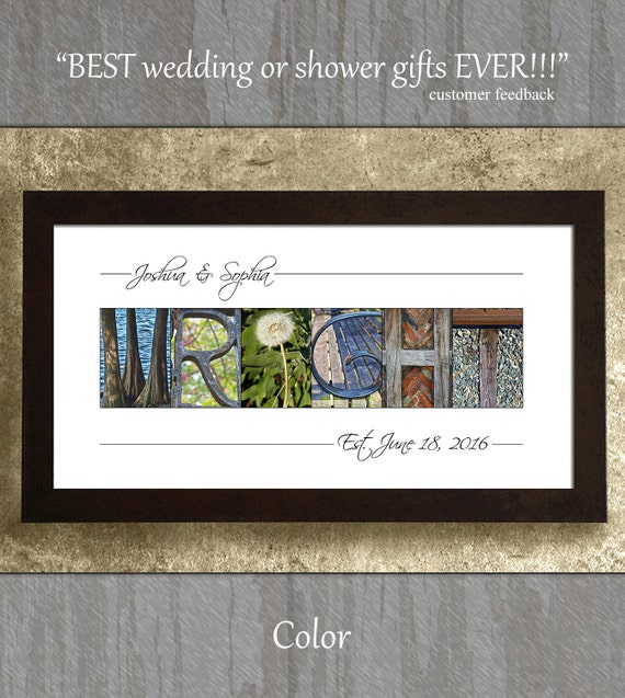 Wedding Gift Alphabet Art : Wedding Gift, Photo Letter Art, Gifts for Wedding, Anniversary Gift ...