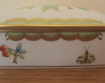 Herend Fine Porcelain trinket box.