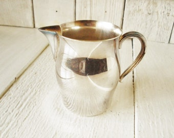 Vintage miniature pitcher silverplate William Rogers sample Paul Revere design