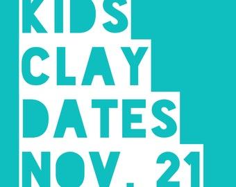 Clay Dates @ Tasha Biggers Pottery: Monday, Nov. 21, 2016, 10 am to noon