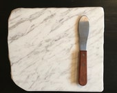 White with Gray Veining up-cycled granite cheese board
