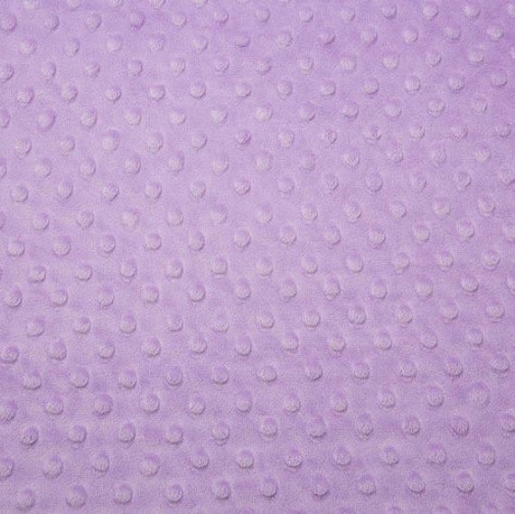 Lavender Minky Cuddle Dot Fabric/Dimple Dot Fabric/Minky Cuddle Fabric/Medium-Heavy Weight/Ultra Soft Minky Fabric/Sold By The YARD