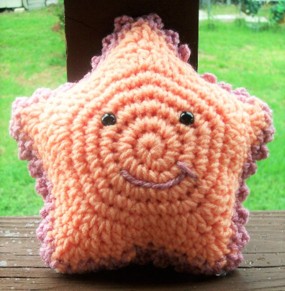 CLEARANCE Wishing Star or Toothfairy Pillow - Cute Crochet Star With Pocket