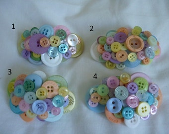 New cute pastle button hair clips or barrette clips chose your clip