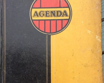 Vintage French 1933 Dunlop Automobile diary/agenda/accounts/ ledger book unused