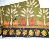 Autumn mug rugs (2) Sunflowers, Pumpkins and Wheat