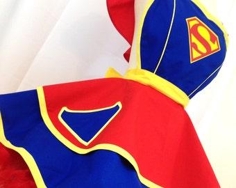 Super Girl Pinup Apron, Super Hero. Comic Book Cosplay, Costume Apron, Woman's Apron
