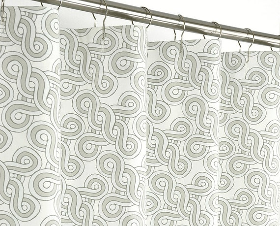 """Taupe Shower Curtain Contemporary - 72"""" Wide x 72, 78, 84, 96 Long ..."""