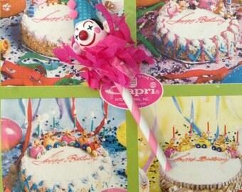 Carnival Clown Single Cupcake Topper