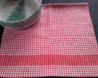 Handwoven Hound's-Tooth Check Cotton Kitchen Towel (1225C)