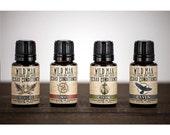 Wild Man Beard Conditioner Oil - Sampler Pack - Four 15ml Bottles - Beard Grooming